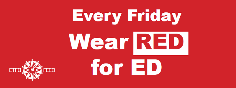 red for ed sign
